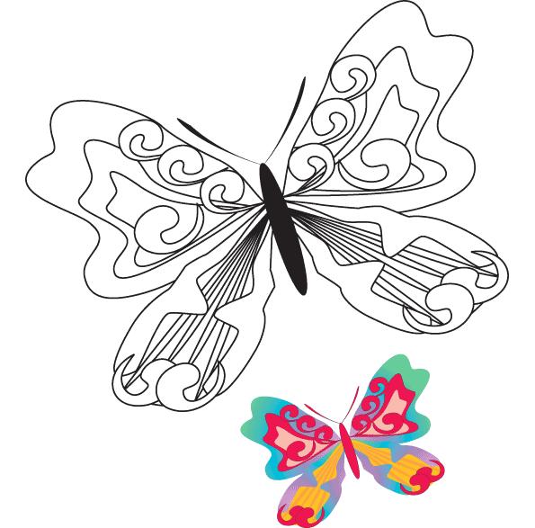Fjäril Målarbilder Målarbilder Fjäril