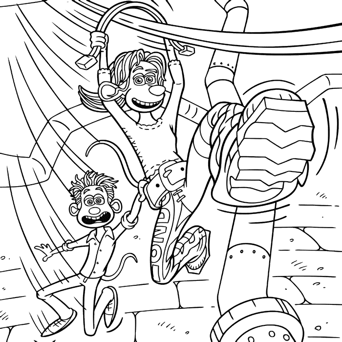 flushed away coloring pages - photo#34