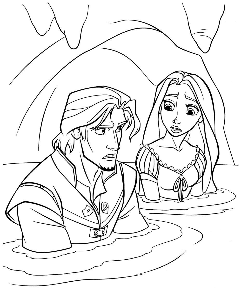 Larbilder Barn Flynn Och Rapunzel
