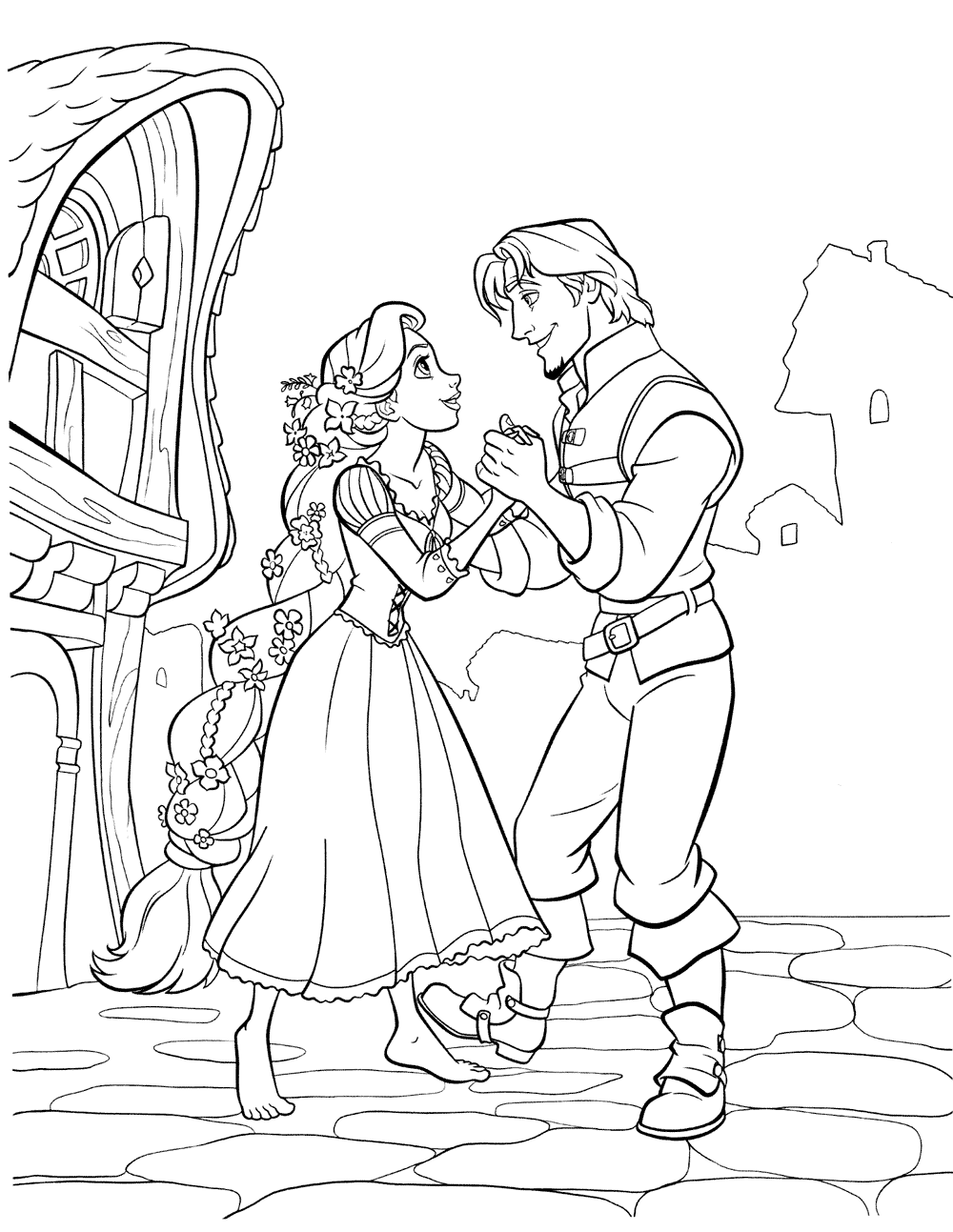 Flynn Rider Coloring Pages Coloring Pages