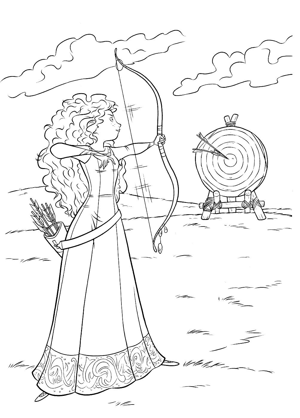 m229larbilder f246r barn prinsessan merida
