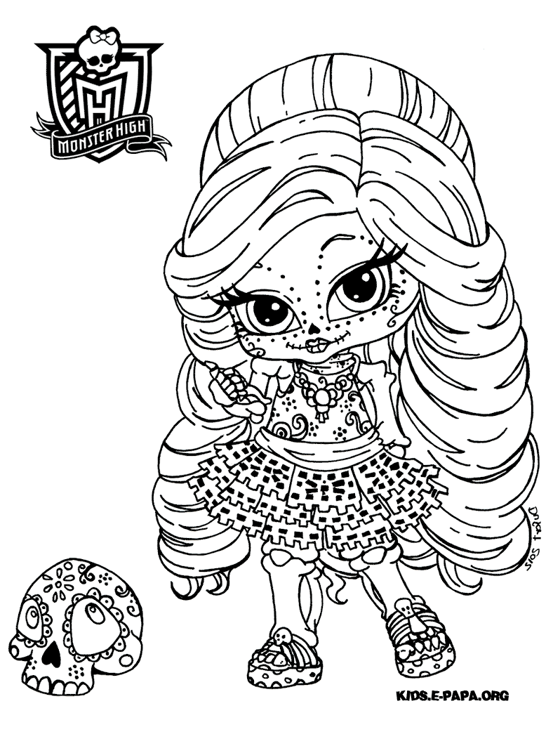 Free Coloring Pages Of Monster High Skelita
