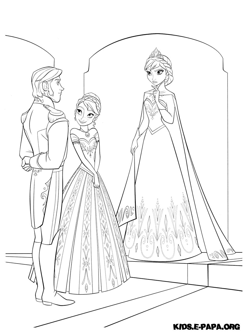 Hans, Anna och Elsa Målarbilder Målarbilder Frost