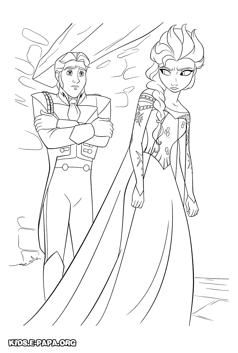 Prins Hans och Elsa Målarbilder Målarbilder Frost